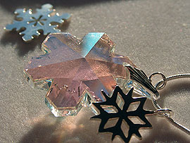Winter' Pendant with Swarovski Crystal